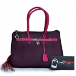 Túi xách nữ thời trang màu tím hồng