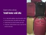 Mua vali kéo vải dù - mua vali kéo thanh lý 2 vali lớn chỉ 699k