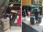 Vali tự thiết kế - dòng vali chuyên dụng BaloTuiXach đồng hành cùng nhà thiết kế áo dài Tuấn Hải trên mọi hành trình quốc tế
