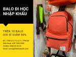 Nguồn hàng sỉ balo học sinh nhập khẩu thời trang - Giá 299k mua sỉ 10 balo trở lên giảm 50%