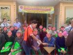 Sen vàng yêu thương hướng về miền Trung - Chương trình trao tặng quà cho 100 hộ bị thiên tai, bão lũ tại Chùa Thiên Phước, Quảng Ngãi