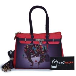 Túi xách nữ họa tiết cô gái và bướm