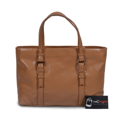 Túi xách nữ màu nâu bóng