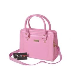 Túi xách nữ dạng hộp, viền chỉ, mẫu đơn giản