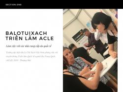 Trưởng đại diện Ba Lô Túi Xách Việt Nam phỏng vấn với truyền thông Triển lãm Quốc tế ngành Da Trung Quốc (ACLE) 2018 - Thượng Hải