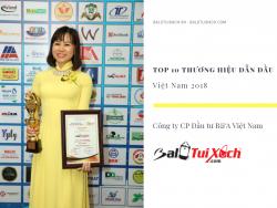Hệ thống BaLoTuiXach nhận giải thưởng Top 10 Thương hiệu Dẫn đầu Việt Nam 2018