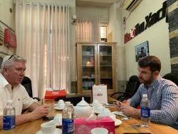 BaloTuiXach đón khách đối tác Mỹ tìm đối tác gia công balo xuất khẩu