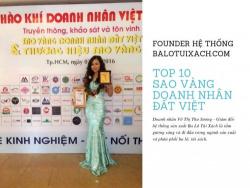 Founder Hệ thống BaloTuiXach.com - Doanh nhân Võ Thị Thu Sương - Top 10 Sao Vàng Doanh Nhân Đất Việt