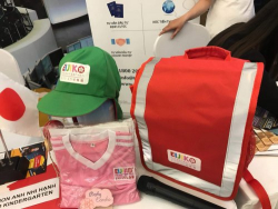 May balo & nón đồng phục học sinh trường mầm non EIJIKO Kindergarten - Mầm Non Anh Nhi Hạnh