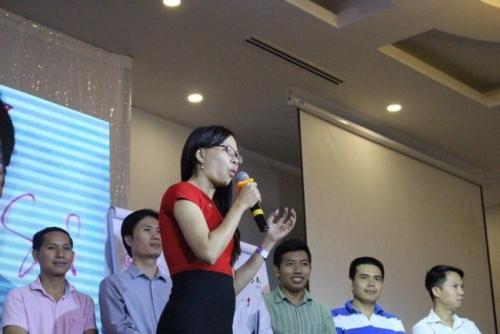Doanh nhân Võ Thị Thu Sương tại chương trình Giải phóng lãnh đạo