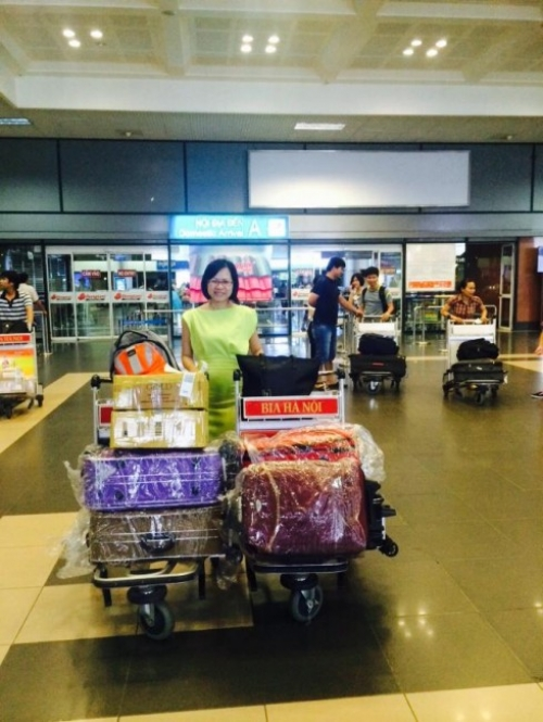 Giám đốc Thu Sương tại chuyến khảo sát thị trường Hà Nội 1