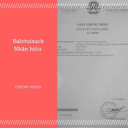 Nhãn hiệu Balotuixach đã được bảo hộ độc quyền, 126, Huyền Nguyễn, Balo túi xách, 06/08/2019 11:58:56