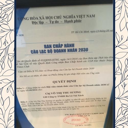 GĐ Balo Túi Xách Thu Sương gia nhập CLB Doanh nhân 2030, 129, Huyền Nguyễn, Balo túi xách, 06/08/2019 11:59:30