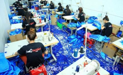 Hhệ thống dây chuyền sản xuất hoàn chỉnh tại BaloTuiXach