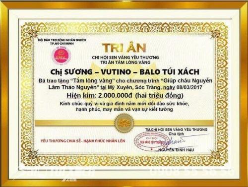 Nhờ gió nhắn gửi yêu thương đến 1 mầm sống nhỏ - Công ty TNHH Ba Lô Túi Xách- VUTINO, 306, Nguyễn Long, Balo túi xách, 13/03/2017 15:35:58