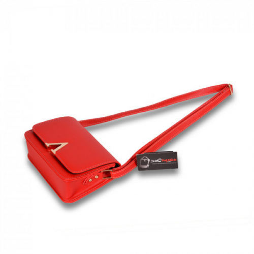 Túi xách đeo chéo màu đỏ mặt nghiêng