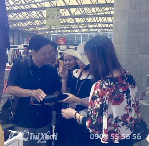 Giám đốc Ba Lô Túi Xách - Làm việc với Chủ tịch Hiệp hội da giầy Hà Nội và chị Thanh - Giám đốc Cá sấu Việt Phong