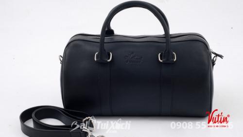 Túi du lịch trung Vutin - màu đen