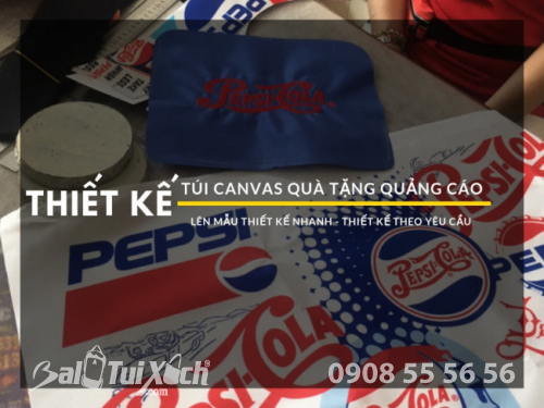 BaloTuiXach lên mẫu túi canvas quà tặng quảng cáo cho PepsiCo Việt Nam
