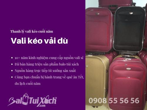 Mua vali kéo vải dù - mua vali kéo thanh lý 2 vali lớn chỉ 699k, 445, Huyền Nguyễn, Balo túi xách, 26/11/2018 18:23:32