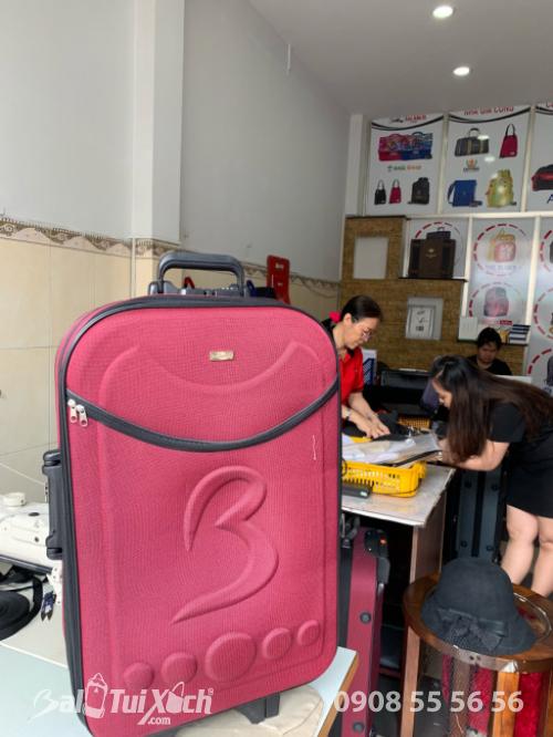 Vali giá rẻ nhất Việt Nam chỉ 399k/sản phẩm, 1 cặp chỉ 699k - Vali dù màu đỏ bọc đô