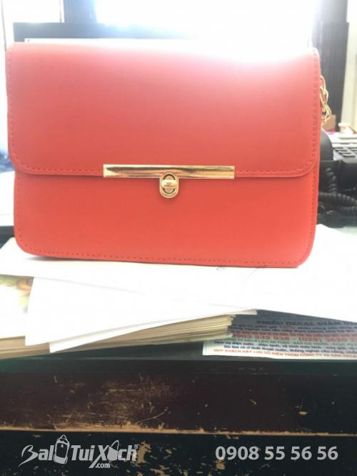 Túi đeo chéo nữ giá rẻ dưới 100k - Công ty sản xuất ba lô túi xách - màu cam