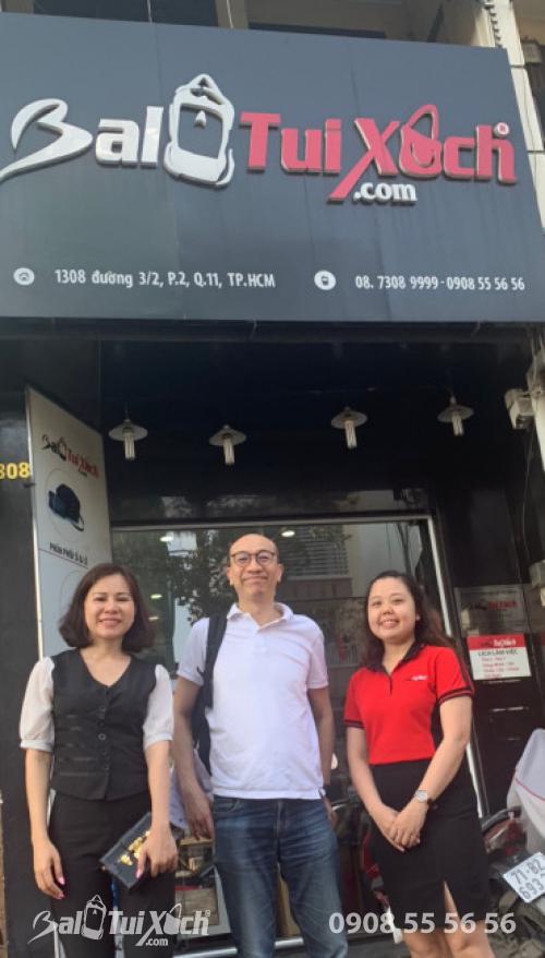 BaloTuiXach tiếp đón đối tác Hồng Kông tham quan Hệ thống phân xưởng sản xuất balo, túi xách
