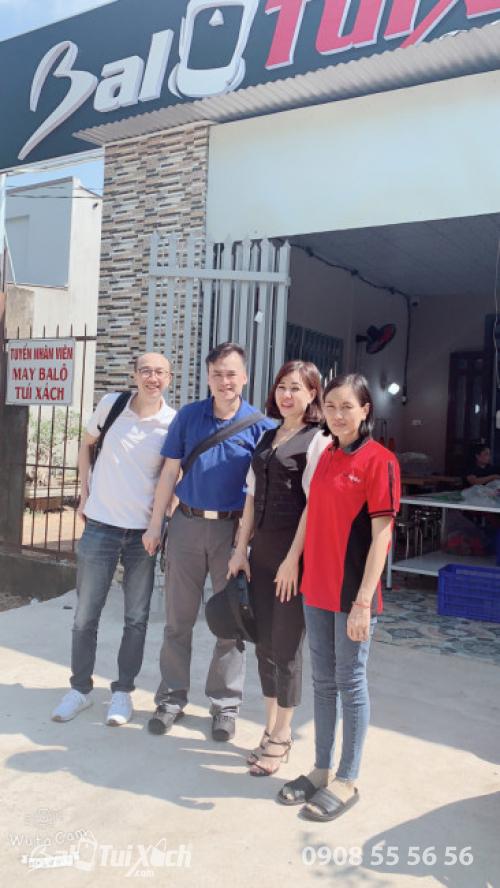 BaloTuiXach tiếp đón đối tác Hồng Kông tham quan Hệ thống phân xưởng sản xuất balo, túi xách (1)