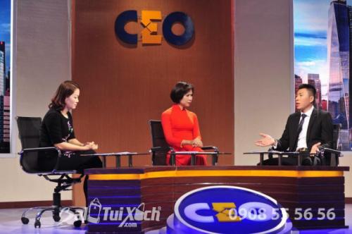 CEO Thu Sương tại chương trình CEO doanh nghiệp trên VTV1