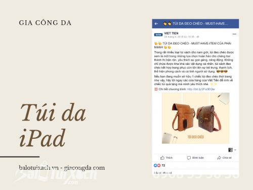 BaloTuiXach gia công túi iPad cho Việt Tiến, 538, Huyền Nguyễn, Balo túi xách, 01/07/2019 10:12:36
