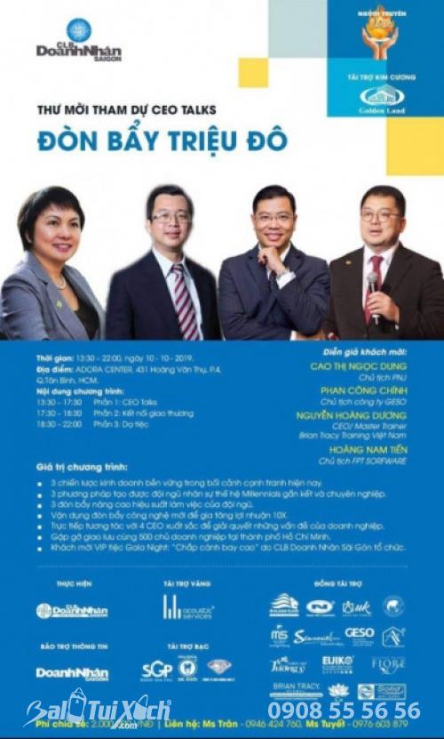 Chủ tịch B A Việt Nam tham dự sự kiện CEO Talks Đòn Bẩy Triệu Đô 2