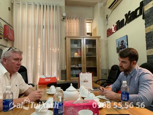BaloTuiXach đón khách đối tác Mỹ tìm đối tác gia công balo xuất khẩu, 582, Huyền Nguyễn, Balo túi xách, 14/01/2020 11:04:36