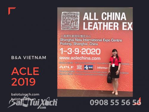 Đại diện B&A Vietnam (Balotuixach.com) tham dự triển lãm ACLE 2019 về nguyên liệu da tại Thượng Hải, 546, Huyền Nguyễn, Balo túi xách, 04/09/2019 09:57:19